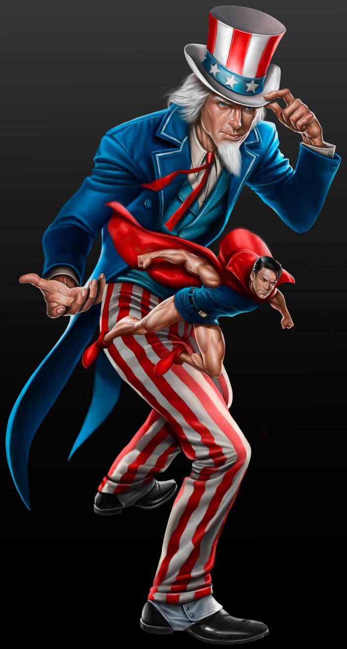 Uncle Sam & Doll Man - Mattel/DC