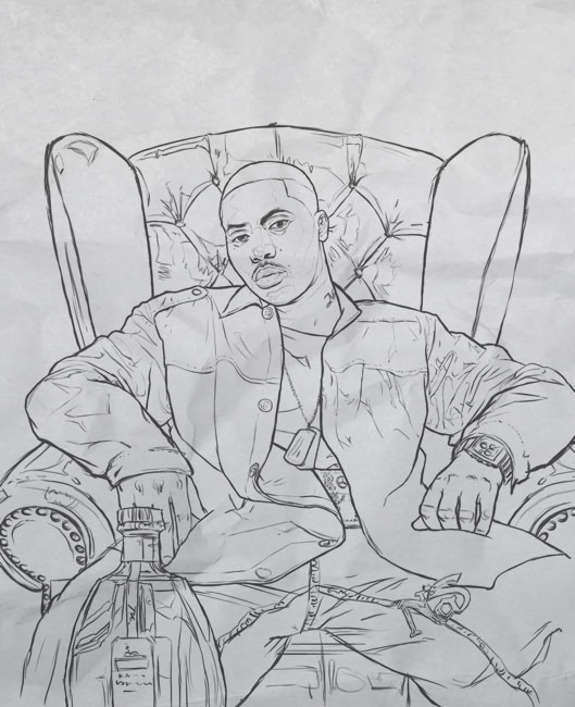Nas Drawing - XXL Magazine